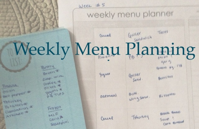 Planning a weekly menu
