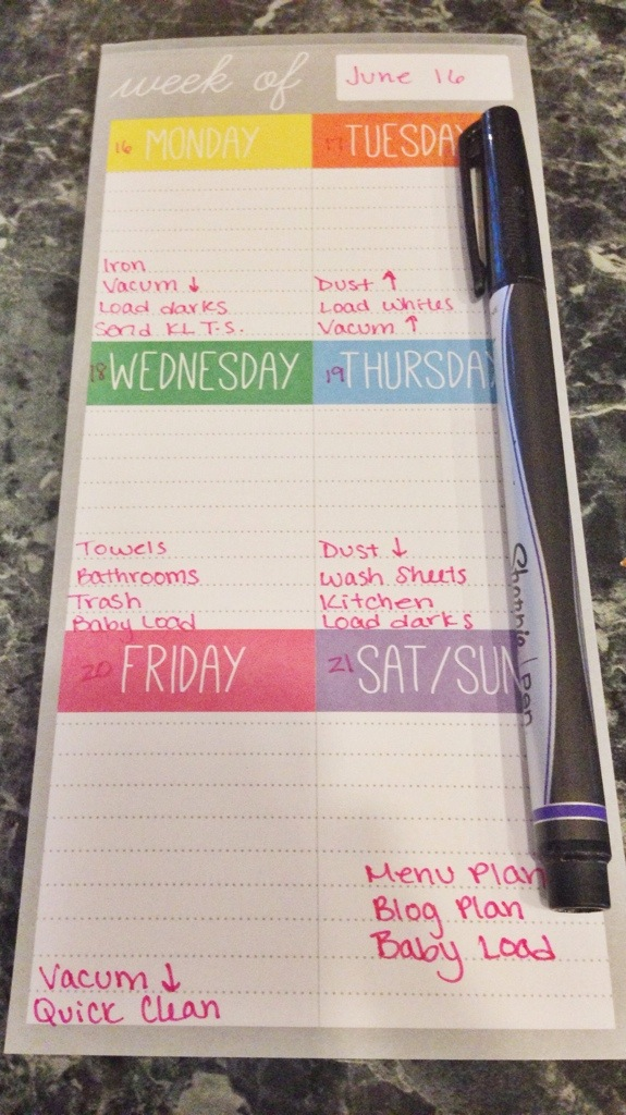 Weekly To Dos Notepad from Target | Cup of Tea blog