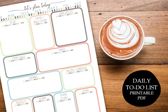 Daily To Do Instant Download from Printable Wisdom