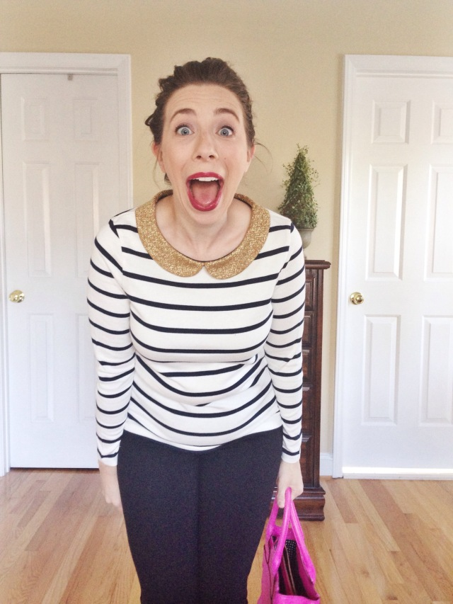 Love that striped shirt!