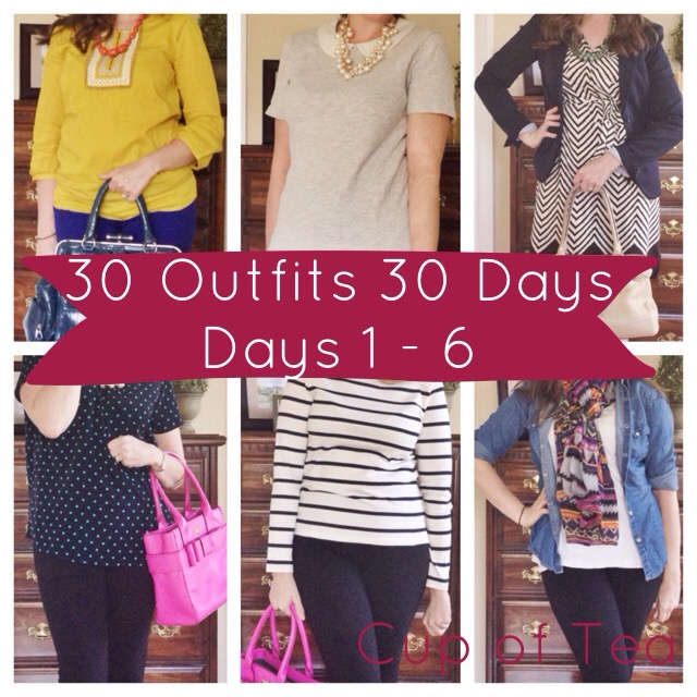 30 Outfits in 30 Days Fall Edition - Day 1-6 at Cup of Tea