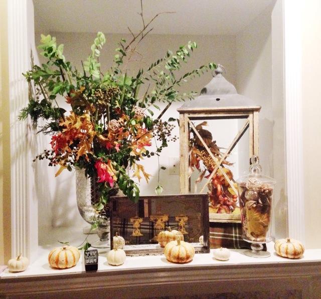 Fall arrangement at Cup of Tea