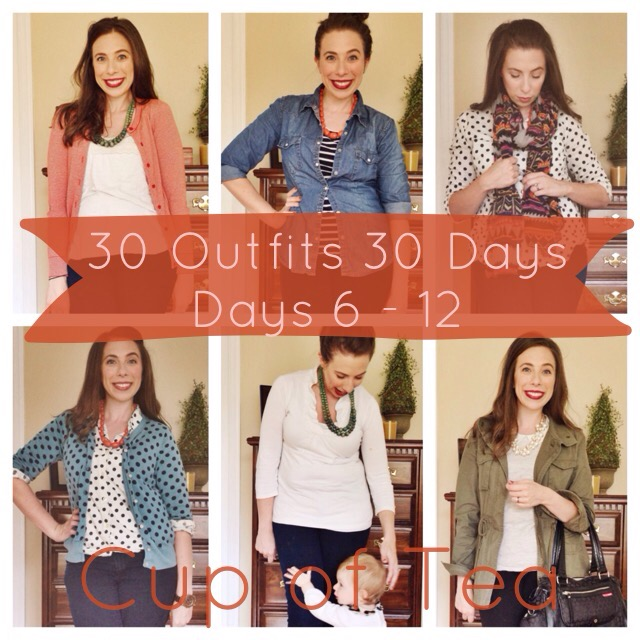 30 Outfits 30 Days Challenge Fall Edition | Days 7-12 on Cup of Tea