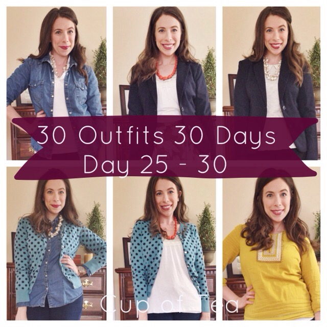 30 Outfits 30 Days Challenge Days 25 - 30 with Cup of Tea