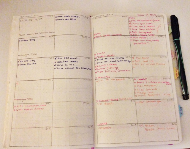 New Weekly Planner Layout for the DIY Moleskine Planner Hack