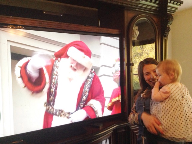Santa says hi on the Cup of Tea blog